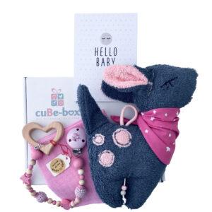 Babybox Girl Bambispieluhr kleine Schwester rosa scaled