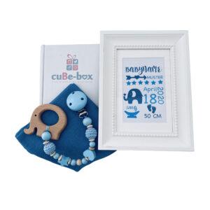 babybox junge geburtsposter elefant blau scaled
