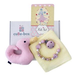 babybox maedchen entenrassel stern hellgelb scaled