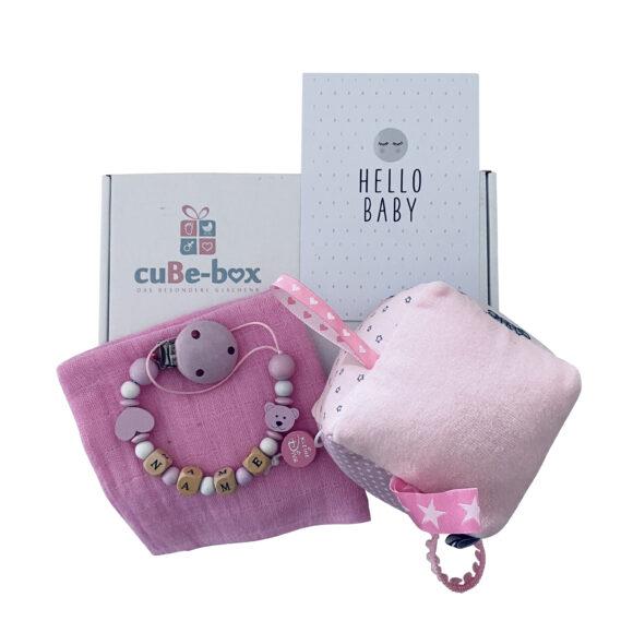 babybox maedchen spielwuerfel rosa