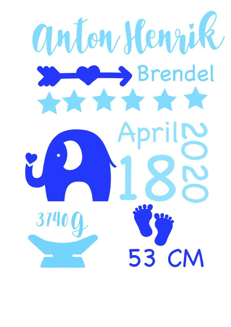 cuBe-box Babygeschenke Geburtskarte blau
