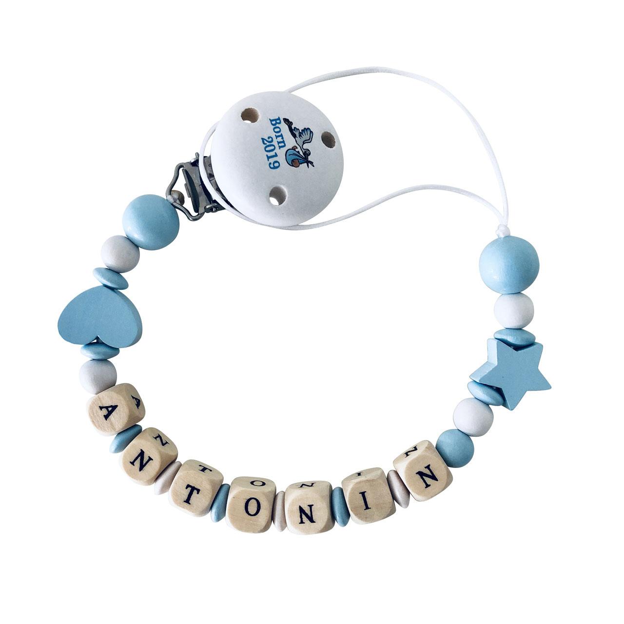 cuBe-box Babygeschenke nuggikette blau