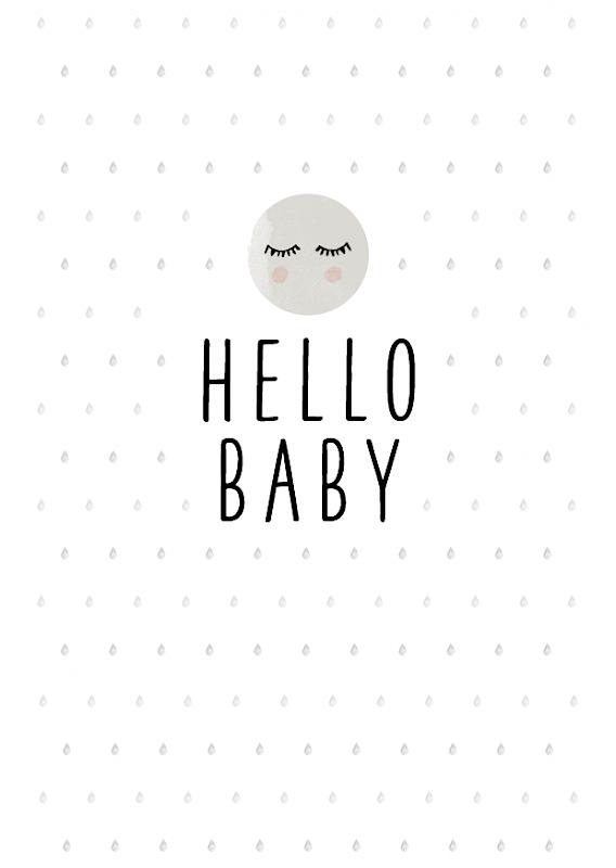 cuBe-box Babygeschenke geburtskarte hello baby