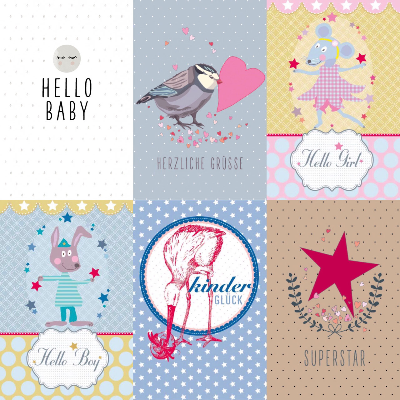 cuBe-box-Babygeschenke Geburtskarten