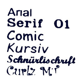 Schriftart Nuscheli