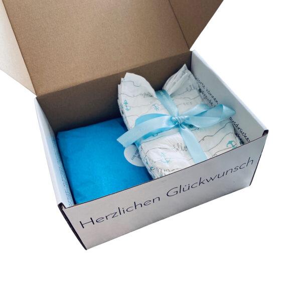 Geschenk Babybox Jungs cuBe-box.ch